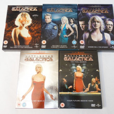 Film serial universal pictures Battlestar Galactica 5 sezoane complet DVD boxset, SF, Engleza
