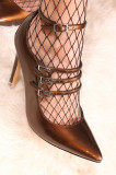 Pantofi stiletto cu bareta Maro JASPAL