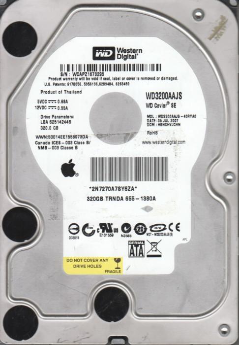 """3.5"""" SATA 320Gb Western Digital WD3200AAJS HDD  8MB PATA IDE ATA100 7200 Rpm"""