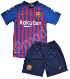 Compleu Echipament Fotbal FC BARCELONA MESSI MODEL 2018-2019  copii 5 la 15 ani, YL, YM, YS, YXL, YXS, YXXL, Set echipament fotbal