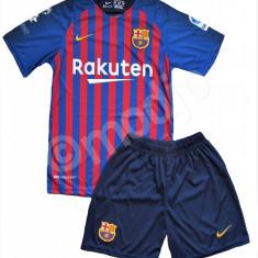 Compleu Echipament Fotbal FC BARCELONA MESSI MODEL 2018-2019  copii 5 la 15 ani, YL, YM, YS, YXL, YXS, YXXL, Tricou + Pantalon