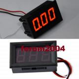 Voltmetru digital cu leduri rosii, 3.2-30 V, 3 digit, 3 fire, carcasa