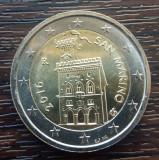 (M657) MONEDA SAN MARINO - 2 EURO 2016, MAI RARA, STARE FOARTE BUNA, Europa