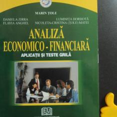 Analiza economico-financiara aplicatii si teste grila Marin Tole