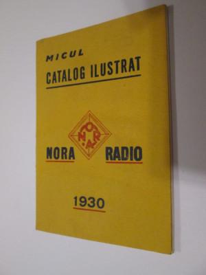 Raritate! Micul catalog ilustrat Nora Radio 1930 foto