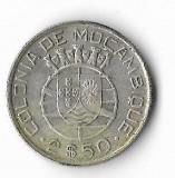 Moneda 2,5 escudos 1942 - Mozambic, 3,5 g argint 0,6500, Africa