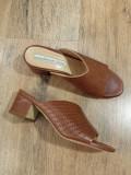 LICHIDARE STOC ! Sandale-saboti dama noi piele naturala foarte comozi 37