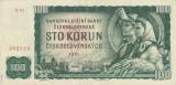 CEHOSLOVACIA 100 korun 1961 VF+!!!