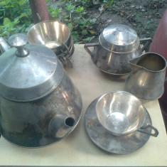 set ceai alama argintata art deco