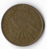 Moneda 1 penny 1951 - Noua Zeelanda, Australia si Oceania