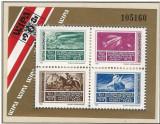 Ungaria, expo. WIPA, timbru pe timbru, cal, zeppelin, bloc, 1981, MNH, Nestampilat