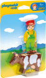 1.2.3 Fermier cu Vacuta, Playmobil
