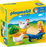 1.2.3 Fermiera cu Gaini, Playmobil