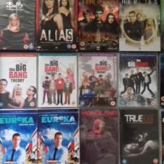 LOT 18 SERIALE DVD - Buffy + Galactica + Merlin + Stargate +, SF, Engleza