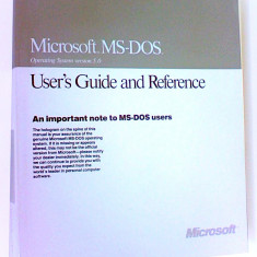 Microsoft MS-DOS version 5.0 User's Guide and Reference