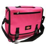 Geanta de dama pentru umar tip postas Messenger Lee cooper roz Originala, Geanta stil postas, Nilon