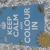 Carte de Colorat pentru Adulti si Copii Keep Calm Albastra