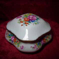 Cutiuta caseta bomboniera Baroc, portelan Limoges, colectie