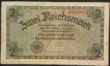 Bancnota 2 REICHSMARK - GERMANIA NAZISTA, anul 1940  *cod 148