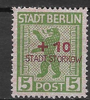 Germania timbre locale -Stadt Storkov 1946 foto mare