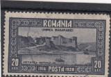 ROMANIA 1928  LP 78 i  EROARE  VALOAREA  20 LEI  FARA  PUNCT  DUPA 1918  STAMP., Stampilat