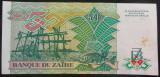 Bancnota EXOTICA 50 ZAIRES - ZAIR, anul 1988  *cod 212