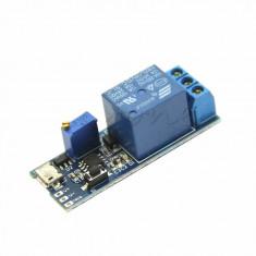 releu cu timer 5V-30V Micro USB Power Adjustable Delay Trigger Delay