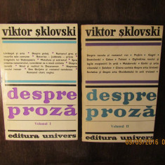 DESPRE PROZA -VIKTOR SKLOVSKI( 2 VOL )