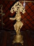 Superbă sculptura arta orientala din bronz masiv