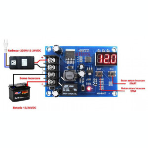 Controler incarcare baterie  12 / 24V DC
