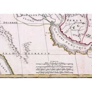 Harta Orientului Mijlociu, prima jumătate a secolului al XVIII-lea - autentica