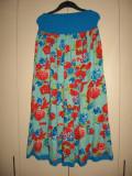 Fusta maxi sau rochie fara bretele Mar M/ L, M/L, Multicolor