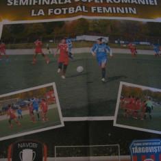 Afis / Navobi Iasi - CS Targoviste / semifinala fotbal feminin, 14 mai 2017