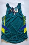 Tricou maieu pentru atletism / ciclism, marca Asics, marime M, nou, poliester, Verde
