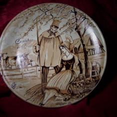 Farfurie ceramica Franta, semnata, colectie, cadou, vintage