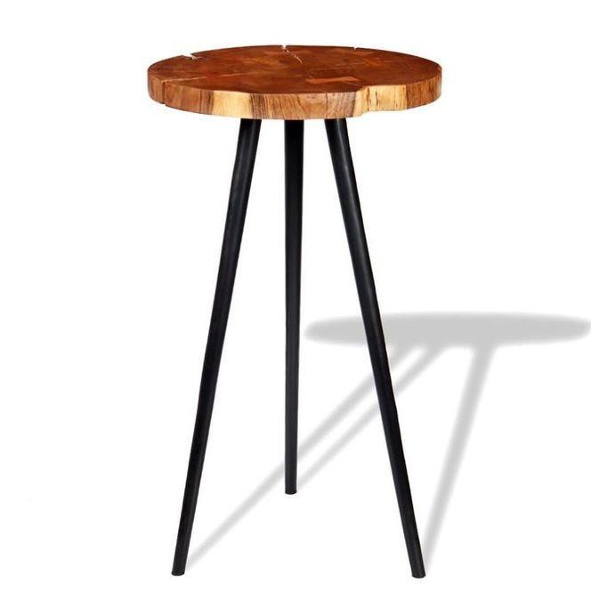 Masa bar model bu?teni, lemn masiv de acacia (55-60) x 110 cm foto mare