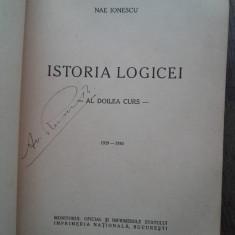 Istoria logicei (editia princeps, 1941) de Nae Ionescu