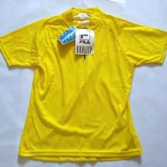 Tricou pentru ciclism, marca FILA, marime M-48, nou, made in Italy, poliester, Galben