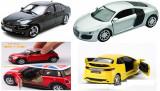 PROMOTIE! SUPER SET 4 MASINUTE DIN FIER BMW,HONDA,MINI,AUDI R8,LUMINI,SUNETE.NOI, Electrice, Metal