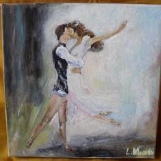 Impreuna 1-pictura ulei ep panza;MacedonLuiza, Portrete, Altul