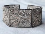 BRATARA argint filigran VIENEZA 1900 LATA manopera EXCEPTIONALA delicata FINUTA