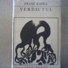 Franz Kafka - VERDICTUL si alte povestiri { 1969 }