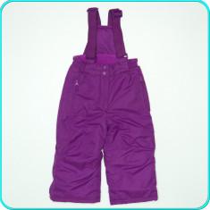 NOI → Pantaloni—salopeta iarna, grosi, imp., KIKI & KOKO→ fete | 2—3 ani | 98 cm, Alta, Mov
