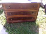 Comoda din lemn de molid cu 3 sertare rustica, Comode si bufete, Rustic, 1800 - 1899