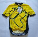 Tricou pentru ciclism, marca FILA, marime 4/M, nou, Made in Italy, poliester, Galben