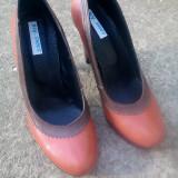 Pantofi de dama cu toc, 39, Maro