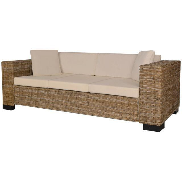 Set canapea de 3 locuri din poliratan 8 piese
