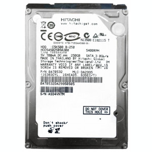 HDD Hard Disk Laptop 250GB HITACHI HCC545025B9A300 250 sata 2 HGST C5K500