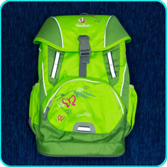 DE CALITATE → Ghiozdan fete, FIABIL, comod, ergonomic → marca DEUTER (Germania), Fata, Verde