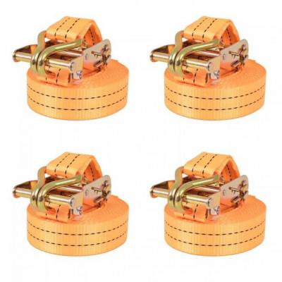Chingi fixare cu clichet, 4 buc., 2 tone, 6mx38 mm, portocaliu foto